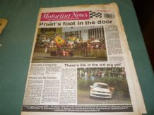 MOTORING NEWS 1990 October 3 Spanish GP, Bathurst, Mintex Rally, F3000